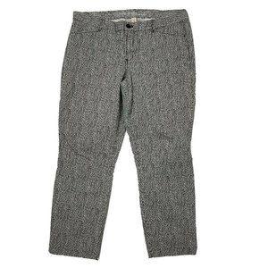 GAP Black White Crop Pants Size 14